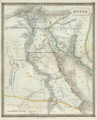 1835 Hall Map of Egypt