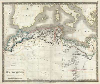 1835 Hall Map of Northern Africa