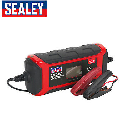 Sealey SMC13 4A Intelligent Battery Charger 9-Cycle Maintenance Trickle 6v / 12v