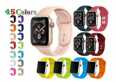 38/42mm Silicone Bracelet Band Strap For Apple Watch iWatch Sports Series -4321