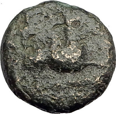 ABDERA THRACE Genuine 345BC Authentic Ancient Greek Coin GRIFFIN & APOLLO i62496