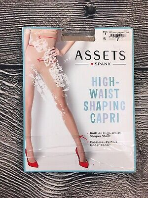 f75fcbfd472 Assets By Spanx Sara Blakely Nude High Waist Shaping Capri Size 1 New