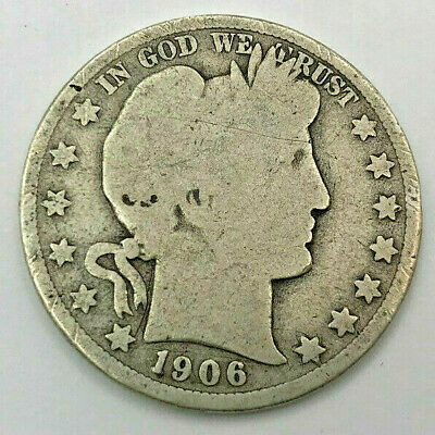 Better Date 1906-D U.s. Silver Barber Half Dollar (Denver)