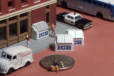 3 Store Front ICE Boxes N Scale Old Style