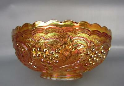 """Imperial GRAPE Marigold Carnival Glass 7¼"""" Round Bowl 5978"""