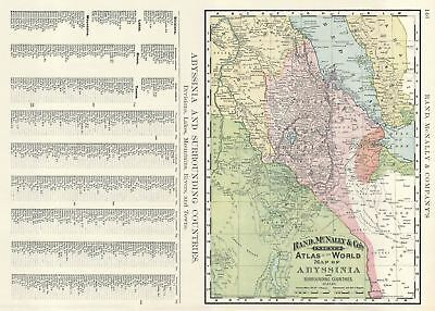 1893 Rand McNally Map of Abyssinia (Ethiopia)