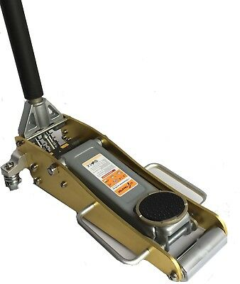 Liftmaster 1.5 Ton Aluminium and Steel Low Profile Trolley Jack (Gold)