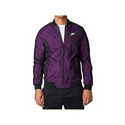257536a2b6 Nike Windrunner Full Zip Varsity Jacket Vivid Purple Black 924517-584 Men s  SZ S