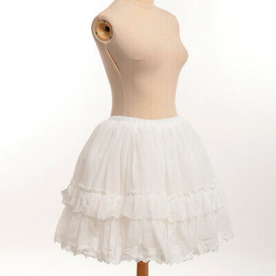 Girls Bustle Crinoline Cage Petticoat Pannier Soft Yarn Adjustable White