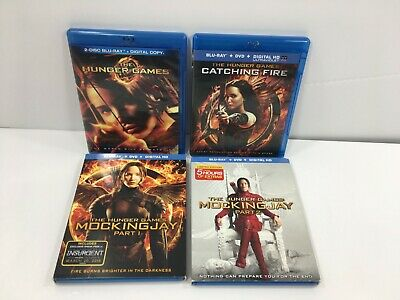 Hunger Games Complete 4 Film Collection BLU-RAY ONLY Catching Fire Mockingjay