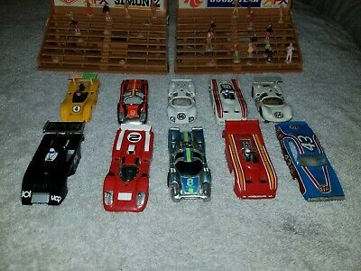 Lot Of 10 Aurora Afx Ho Scale Slot Car Bodies For Parts, Runners, Or Resto
