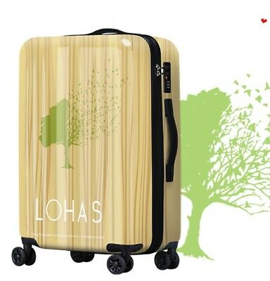 A686 Lock Universal Wheel Brown Fashion Travel Suitcase Luggage 20 Inches W