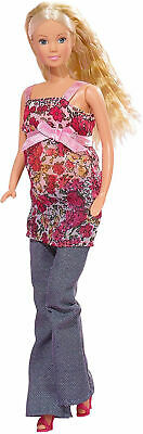Kids Toy Steffi Love Barbie Girl Pregnant Doll Removable Tummy Baby