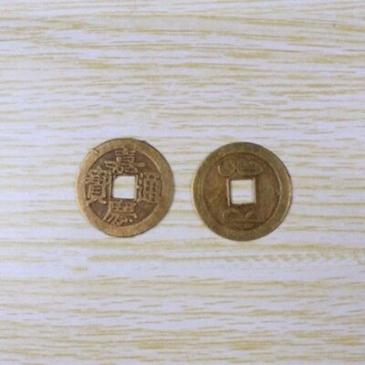 10pcs Chinese Ancient Coins Bronze Collection Hobby Diameter 25mm Antique