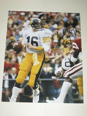 College-ncaa Original Chuck Long Iowa Hawkeyes Signed Football Autographed Quarterback Legend Rare