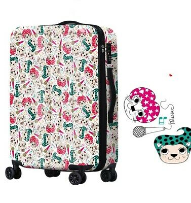 A149 Lock Universal Wheel Multicolor Cats Travel Suitcase Luggage 20 Inches W
