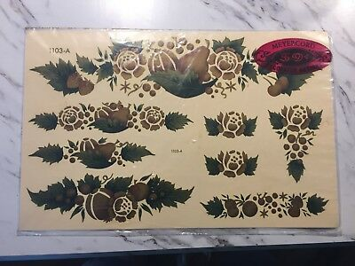"Vintage NEW OLD STOCK Meyercord Decal Transfer Fruit & Leaf 8.5x13.25"" 1103-A"