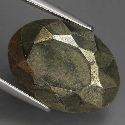 17.80 Ct Natural Brownish Balck PYRITE  Cabochon Certificate Gem @ See Vdo!!