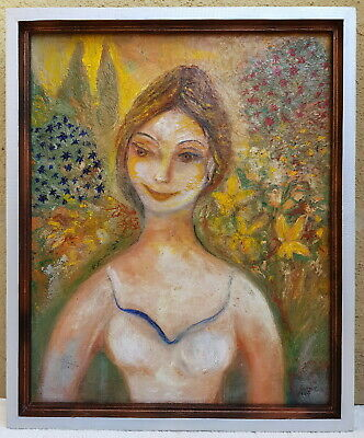 MARC CHAGALL antique oil canvas painting framed Russian French expressionist art
