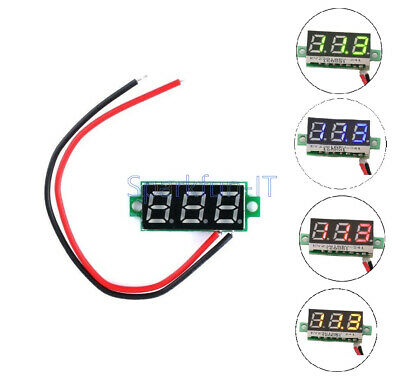 0.28 inch Two Wire LCD Mini Digital DC Voltmeter Gauge Voltage Detector