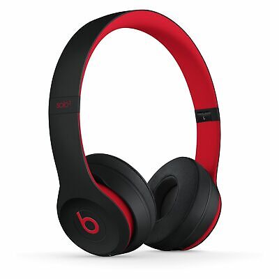 Apple Beats Solo3 Wireless Defiant Black/Red Decade Collection On Ear MRQC2LL/A
