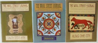 Lot of 3 The Wool Journal Rug Hooking Extraordinary Pattern Magazines