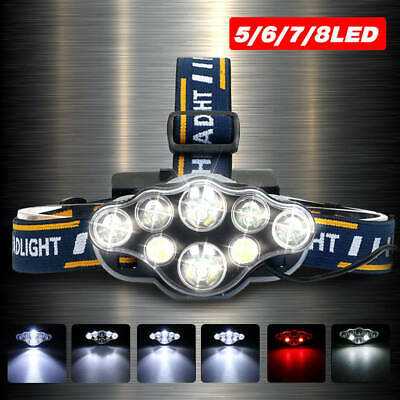 Super bright 90000LM T6 LED Headlamp Headlight Torch Rechargeable Flashlight US