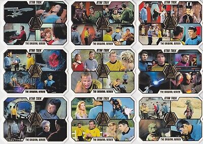 Star Trek TOS The Original Series 50th Anniversary Complete set 1-80,Spock,Kirk