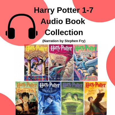 Harry Potter Audiobook Collection Books 1-7 Narrated by Stephen Fry (Mp3)