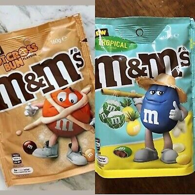 Hot Cross Bun & Tropical M&Ms Chocolate 160g Rare Australian Easter Australia