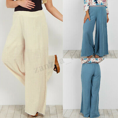 Maternity Pregnant Women High Waist Long Pants Harem Loose Plus Palazzo Trousers