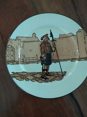 Royal Doulton Nightwatchman Series Ware Display Plate Circa 1912