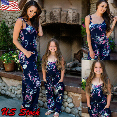 e542764b7386 Mother And Daughter Matching Romper Clothes Mom Girl Jumpsuit Family Outfits