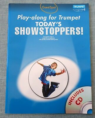 TODAY'S Showstoppers Play-Along for TRUMPET. Sheet Music Book. Backing tracks CD