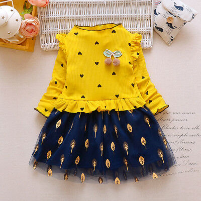Child Girl Warm Party Dress Kids Girl Thick Princess Dress For Baby Girl Dresses
