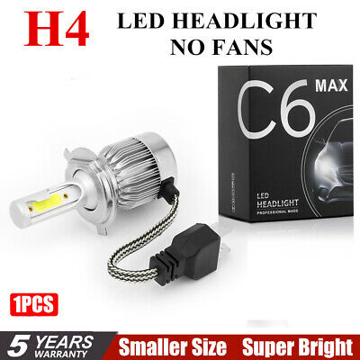 1PC COB H4 C6 10800LM 120W LED Car Headlight Kit Hi/Lo Turbo Light Bulbs 6000K ^