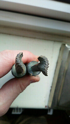 """ANTIQUE Bookbinding Gilding Leather Tools Stamps """" Handed Pair """"   (2)"""