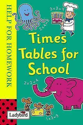 Ladybird, Times Tables for School (Help for Homework), Hardcover, Very Good Book