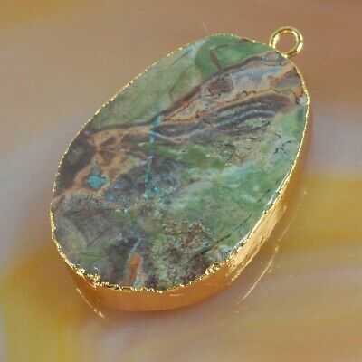 Multi-Color Spiderweb Agate Faceted Charm One Bail Gold Plated T075351