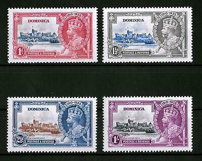 DOMINICA 1935 Mint NH Silver Jubilee Complete Set of 4 SG #92-95 VF