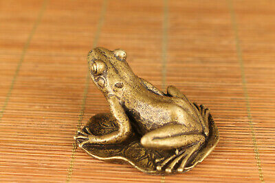 china old bronze hand carved frog feng shui statue netsuke collectable ornament