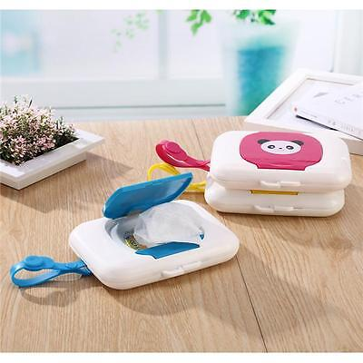 Portable Baby Reusable Wet Wipe Pouch Travel Case Wipes Bag CB