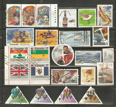 a stock page of recent used stamps from Canada.(C-4)