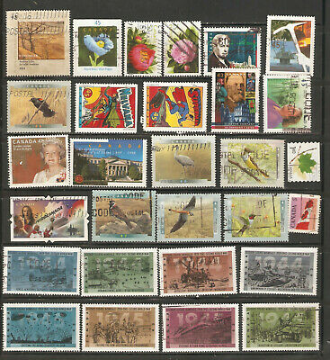 a stock page of recent used stamps from Canada.(C-5)