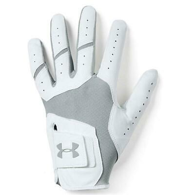 Under Armour Golf 2019 Iso-Chill Men's Leather Glove (White/Steel)