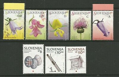 SLOVENIA 2007 FLOWERS & 1990s CULTURE PART SETS UNMOUNTED MINT MNH STAMPS