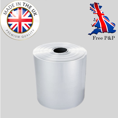 """1 Rolls x 4"""" (500 Gauge) Extra Strong Packaging Clear Polythene Layflat tubing"""