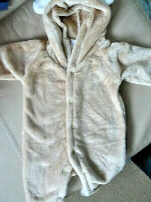 One piece Baby Suit Sleep Suit Hood Soft Flannel 70cm Michley New In Pack