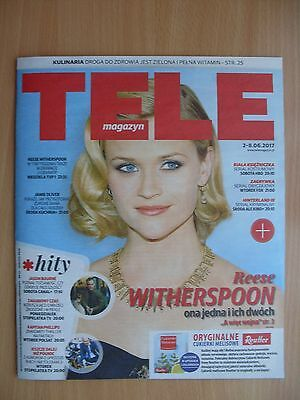 REESE WITHERSPOON on front cover Polish Magazine TELE MAGAZYN 22/2017