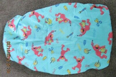 Vtg Elmo W/paint & Crayons Baby Crib Or Toddler Bed Fitted Sheet